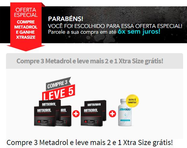 Oferta especial para compra de Metadrol com grande desconto e Brinde